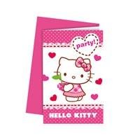 KullanAtMarket Hello Kitty Kalpler Davetiye 6 Adet
