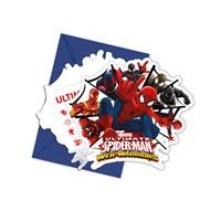 KullanAtMarket Spiderman Savaşçı Davetiye 6 Adet