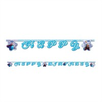 KullanAtMarket Frozen Ice Skating Happy Birthday Harf Afiş 1 Adet
