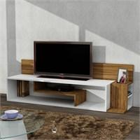 Stream Tv Ünitesi Beyaz - Ceviz