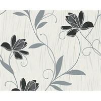 Garaj 3062-41 İthal Simli Çiçek Desen Duvar Kağıdı