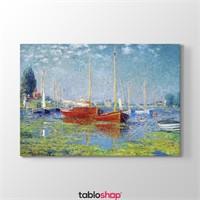 Tabloshop Claude Monet - Red Boats At Argenteuil Tablosu