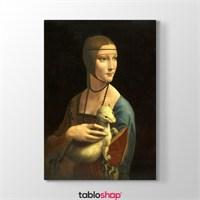 Tabloshop Leonardo Da Vinci - Erminli Kadın Tablosu