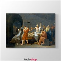 Tabloshop Jacques Louis David - Sokrates'İn Ölümü Tablosu