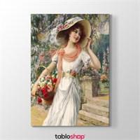 Tabloshop Emile Vernon - Çiçekci Kız Tablosu