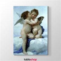 Tabloshop William Adolphe Bouguereau - İlk Öpücük Tablosu