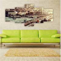 Tablo İstanbul 150X70 Cm Büyük Boy 5 Parçalı Kanvas Tablo-173