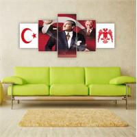 Tablo İstanbul 150X70 Cm Büyük Boy 5 Parçalı Kanvas Tablo-6