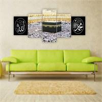 Tablo İstanbul 150X70 Cm Büyük Boy 5 Parçalı Kanvas Tablo-99