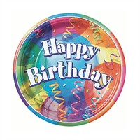 KullanAtMarket Happy Birthday Balonlu Karton Tabak 8 Adet