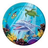 KullanAtMarket Okyanus Partisi Karton Tabak 8 Adet