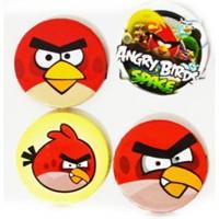 Parti Şöleni Angry Birds Rozet 4 Adet
