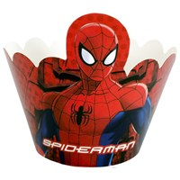 Parti Şöleni Spiderman Cupcake Süsü 10 Adet