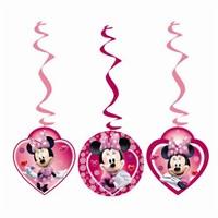 Parti Şöleni Minnie Mouse İp Süs 3 Adet