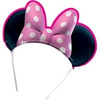 Parti Şöleni Minnie Mouse Taç 6 Adet