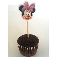 Parti Şöleni Minnie Mouse Kürdan Süs 10 Adet