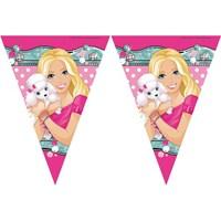 Parti Şöleni Barbie Üçgen Bayrak 1 Adet
