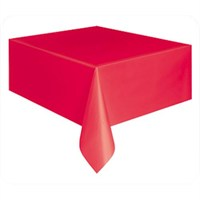 Parti Şöleni Kırmızı Masa Örtüsü 1 Adet