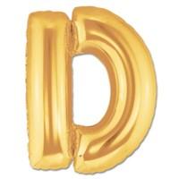 Parti Şöleni D Harf Folyo Balon Altın