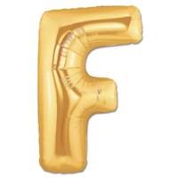 Parti Şöleni F Harf Folyo Balon Altın