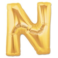 Parti Şöleni N Harf Folyo Balon Altın