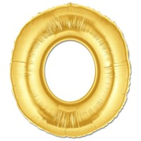 Parti Şöleni O Harf Folyo Balon Altın