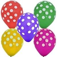 Parti Şöleni Karışık Renkli Puantiyeli Balon 20 Adet