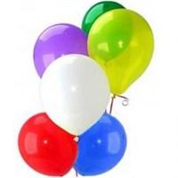 Parti Şöleni Karışık Renkli Düz Balon 20 Adet