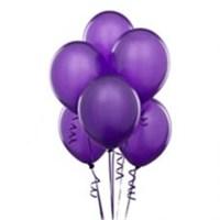 Parti Şöleni Metalik Mor Balon 20 Adet