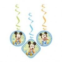 Parti Şöleni Baby Mickey Mouse İlk Yaşım Asma İp Süs