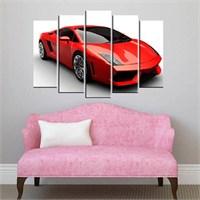 Canvastablom B50 Kırmızı Araba Parçalı Tablo