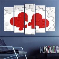 Canvastablom B104 Kalp Şeklinde Yapboz Parçalı Tablo