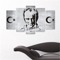 Canvastablom Atatürk 5 Parçalı Kanvas Tablo