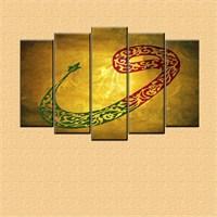 Canvastablom Vav Dini Dekoratif 5 Parçalı Kanvas Tablo