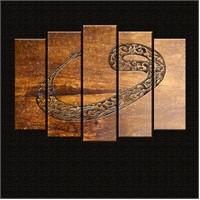 Canvastablom Vav Dini Dekoratif 5 Parçalı Canvas Tablo