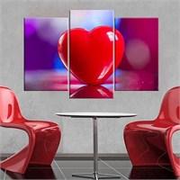 Canvastablom Ü127 Kalp Parçalı Tablo