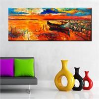 Canvastablom Pnr126 Yağlı Boya Sandal Panoramik Kanvas Tablo