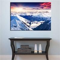Canvastablom T381 Karlı Dağlar Kanvas Tablo