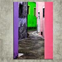 Canvastablom T382 Renk Sokağı Kanvas Tablo