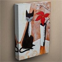 Canvastablom T12 Kedi Yağlı Boya Kanvas Tablo