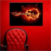Canvastablom T55 Alev Gitar Kanvas Tablo