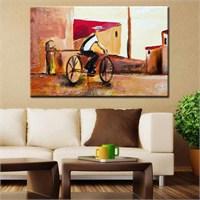 Canvastablom T82 Bisiklet Süren Çocuk Tablo
