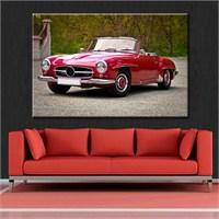 Canvastablom T128 Red Car Kanvas Tablo