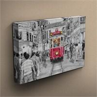 Canvastablom T194 İstiklal Caddesi Tranvay Kanvas Tablo