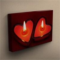 Canvastablom T291 Kalp Şeklinde Mumlar Kanvas Tablo