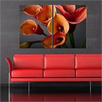 Canvastablom İ12 Callas Çiçekleri Parçalı Kanvas Tablo