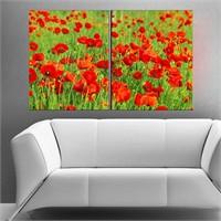 Canvastablom İ49 Gelincik Çiçekleri Parçalı Tablo