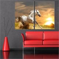 Canvastablom İ174 Beyaz At Parçalı Tablo