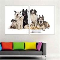Canvastablom İ194 Köpekler Parçalı Tablo