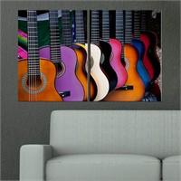 Canvastablom İ300 Renkli Gitarlar Parçalı Tablo